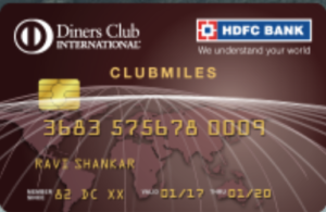 HDFC Diners ClubMiles Credit Card