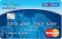 YES Bank Prosperity Rewards Plus Credit Card