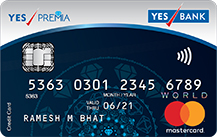 YES Bank PREMIA Credit Card