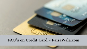 Faq's On Credit Card